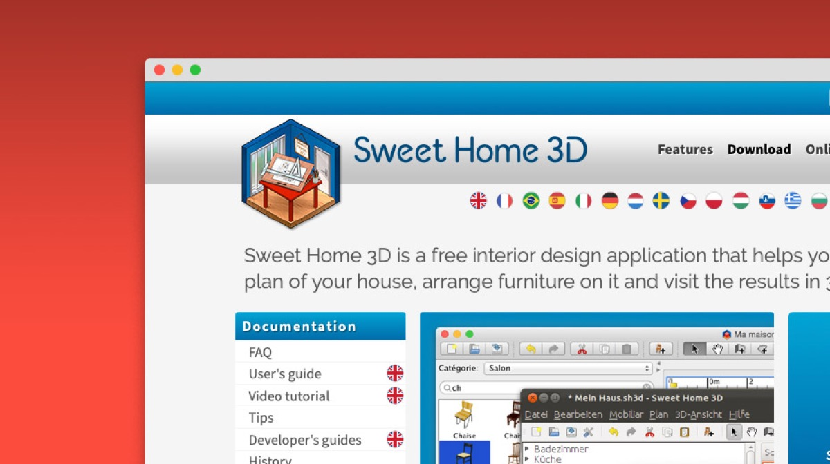 Sweet home 3D web Design
